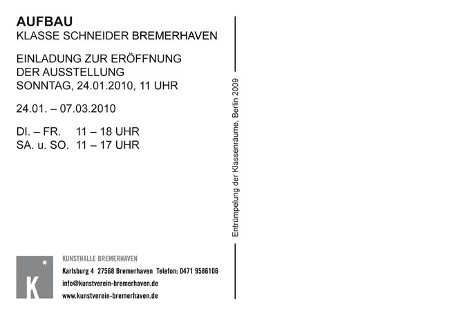 Invitation card: AUFBAU