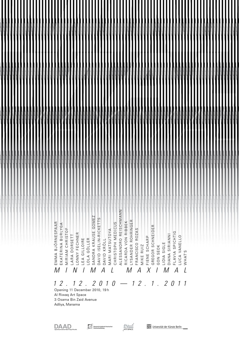 Poster: MINIMAL MAXIMAL, Al Manamah 2010